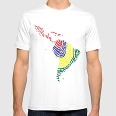 Latin America MEDIUM White Mens Fitted Tee