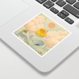 Duck at Sea Sticker