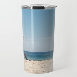 Old mate at the beach Travel Mug