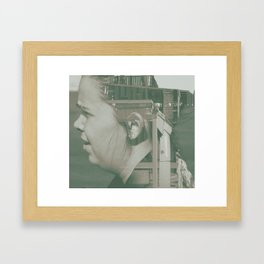 building head Framed Art Print