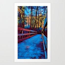 Bridge to Where? Art Print