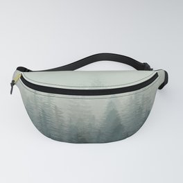 Into The Misty Nature - Turquoise Green Fanny Pack
