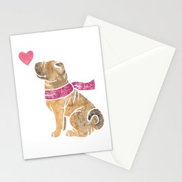 Watercolour Shar Pei Stationery Cards