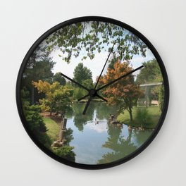 Japanese Gardens Pond Wall Clock