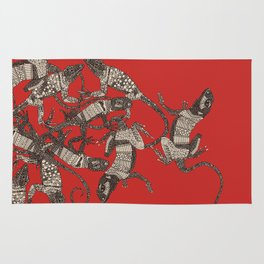 just lizards red Rug