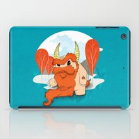 pixies iPad Cases featuring Graggy, the plump Happy Chaos Monster of Scotland by Roxie Rose Design