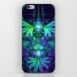 The Clockwork Kite Wings of a Blue-Green Dragonfly iPhone Skin