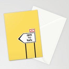Haifa, This Way Stationery Cards