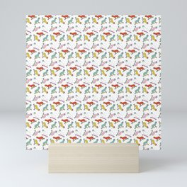 Cats and Confetti Mini Art Print