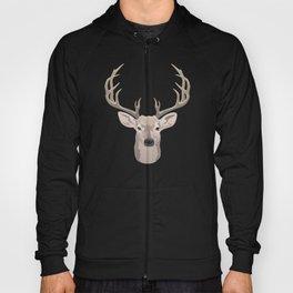 Beautiful buck dear head with big antlers Hoody
