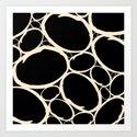 Circles  |  Cream & Black by silvioledbetter