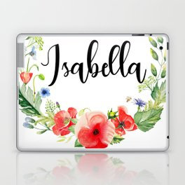 Isabella Poppy Wreath Laptop & iPad Skin