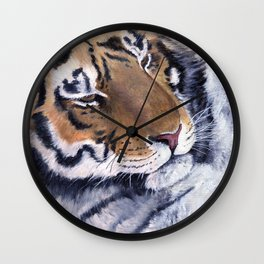 Nice Putty Cat by Teresa Thompson Wall Clock