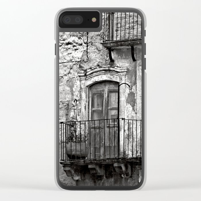 SICILIAN MEDIEVAL FACADE Clear iPhone Case
