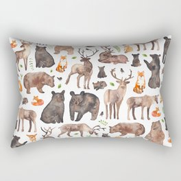 Woodland Animals Rectangular Pillow