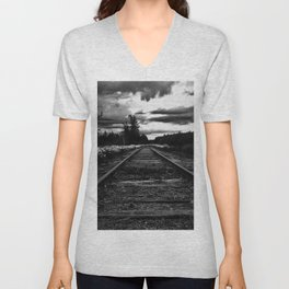 Historic Infrastructure in Disuse and Disrepair Unisex V-Neck