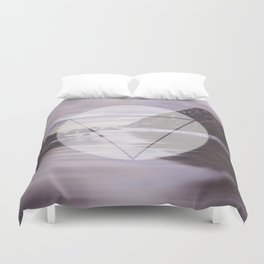 Calm Waters sacred geometry circle triangle Duvet Cover
