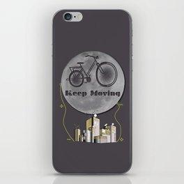 Moon Keep Moving Bicycle iPhone Skin