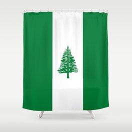 flag of norfolk Shower Curtain