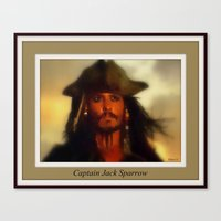jack sparrow Canvas Prints featuring Captain Jack Sparrow. by elkart51