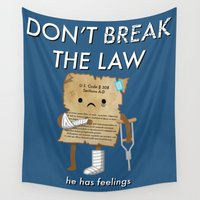 law Wall Tapestries featuring Breaking The Law by Jake Friedman