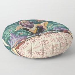 Vintage poster - Forbidden Planet Floor Pillow