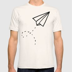 Paper Plane Natural SMALL Mens Fitted Tee