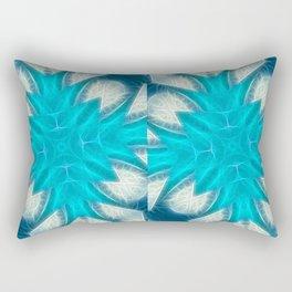 Cyan Glow Kaleidoscope 2 Rectangular Pillow