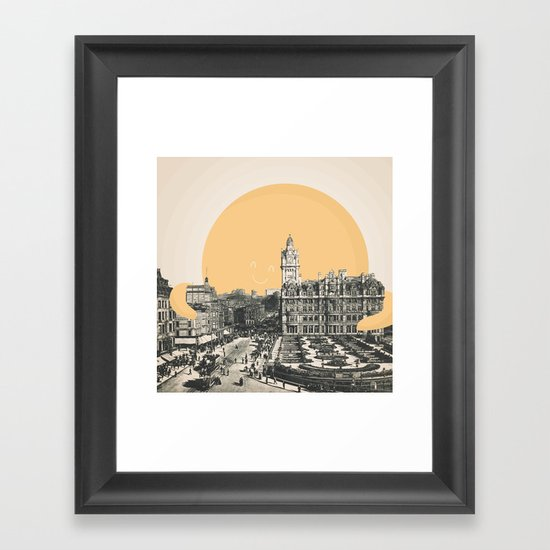 A Hug for Edinburgh Framed Art Print