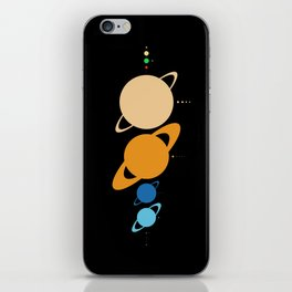 Planets And Moons To Scale iPhone Skin