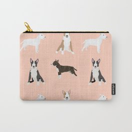 Bull Terrier mixed coat black and white terriers white and tan bull terriers lovers dog breed gifts Carry-All Pouch