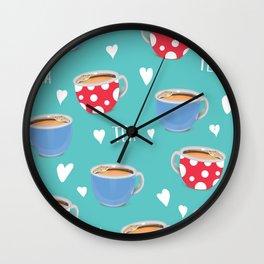 Love Tea Wall Clock