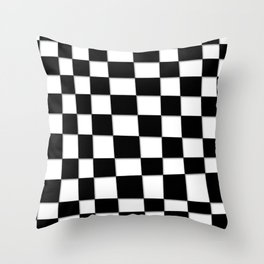 Checked Out Throw Pillow