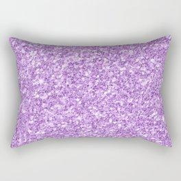 Purple Glitter Rectangular Pillow