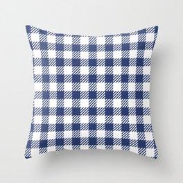 Blue Vichy Throw Pillow