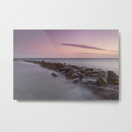 Seawall. Purple Sunset Metal Print