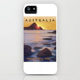 Poster Nelson Bay iPhone Case