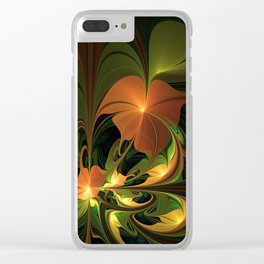 Fantasy Plant, Abstract Fractal Art Clear iPhone Case