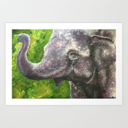 Textured Elephant Art Print