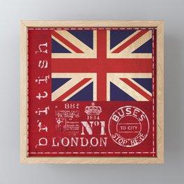 Union Jack Great Britain Flag Framed Mini Art Print