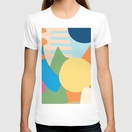 Colorful Modern Abstract T-shirt