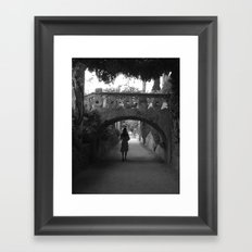A Path in Ravello, Italy Framed Art Print