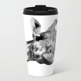 Black and white giraffe Metal Travel Mug