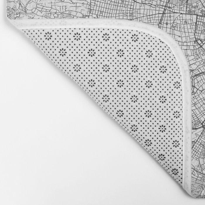 Vienna Map Line Bath Mat