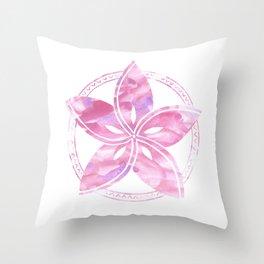 Beach Time pink Throw Pillow