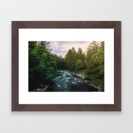 PNW River Run II - Pacific Northwest Nature Photography Framed Art Print