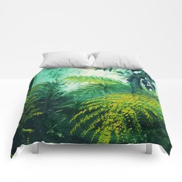 Rainforest Lights and Shadows Comforters