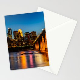 Stone Arch Bridge Illuminated Stationery Cards