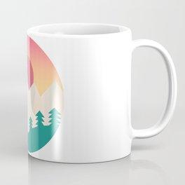 Nature artwork with gradient sunset Coffee Mug
