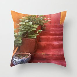 Blue, Red and Green Throw Pillow